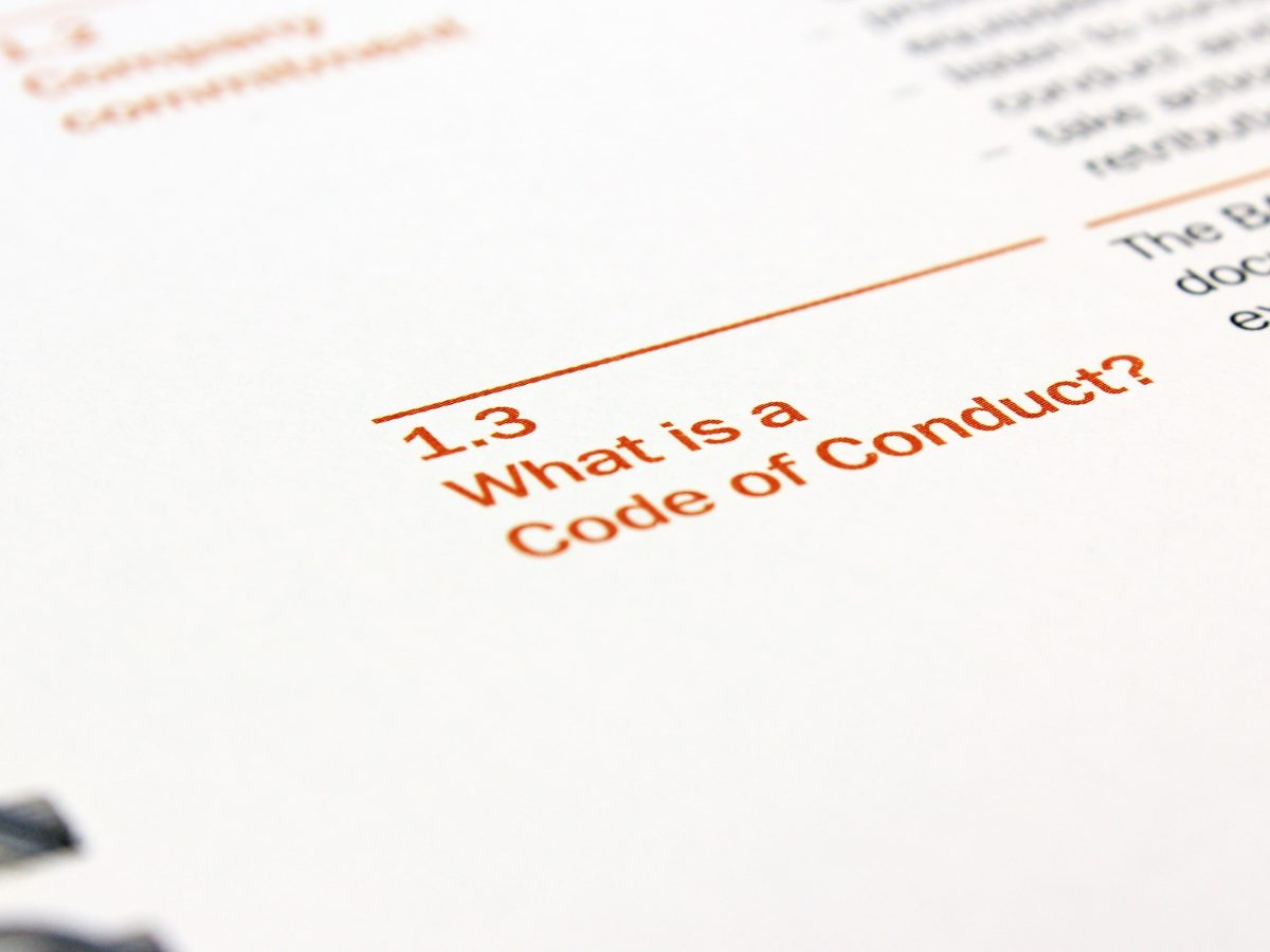 Code of Conduct – A Barrier to Good Conduct?